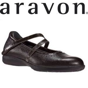 Aravon by New Balance Leather Mary Janes